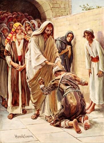 Jesús cura a un leproso